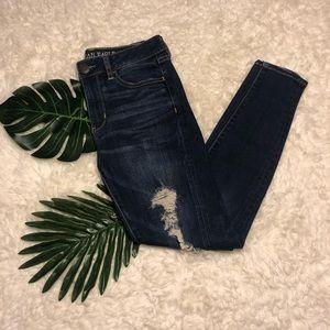 American Eagle Dark Wash Hi-Rise Jegging Jeans